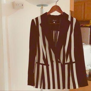 Super cute black and white blazer